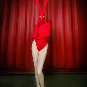 Sexy Red Bunny Rabbit Ears Costume